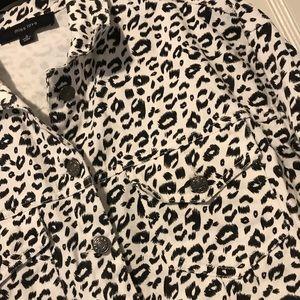 Miss Love Jackets & Coats - Adorable White Leopard Print Jacket